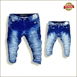 Wholesale Men Denim Jeans Funky Colour WJ1246