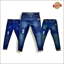 Wholesale Mens Patch jeans WJ1258