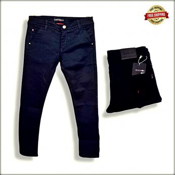 Mens Black Cross pocket Polo Fit Jeans DS1904