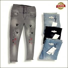 Ladies Skinny High Waist Repeat jeans