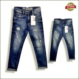 Men's Vintage Denim Tone Jeans