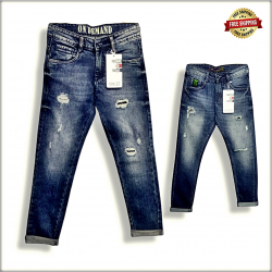 Men's Vintage Denim Tone Jeans