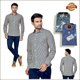 Men Check Lining Shirt
