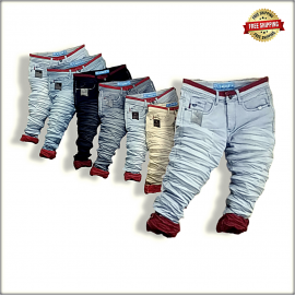 Men Wrinkled Funky Colour Jeans Wholesale Rs. WJ1298