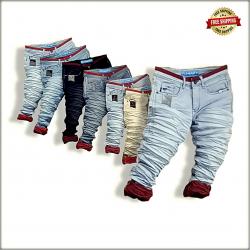 Men Wrinkled Funky Colour Jeans Wholesale Rs. WJ1298