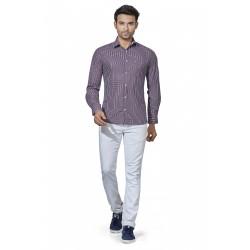 Men's White Lining Casual Shirt
