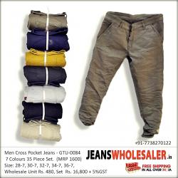 Men's Cross Pocket Jeans wholesale Rs. 480