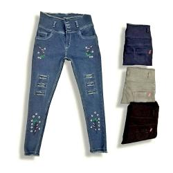 Women High Waist Repeat Jeans