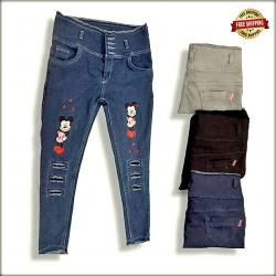 High Waist Repeat Women Jeans
