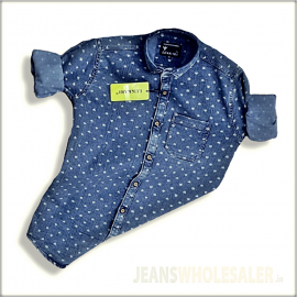 Men Blue & Navy Blue Denim Shirt