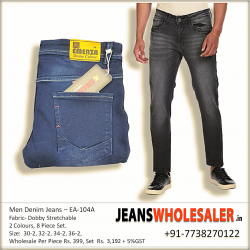 Blue Regular Fit Men's Jeans