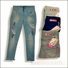 Women High Waist Funky Jeans LB0032