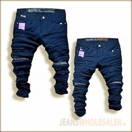 Black Repeat Jeans For Men WJ1300