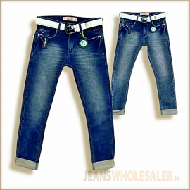 Lukkari Mens Blue Jeans With Belt WJ1303