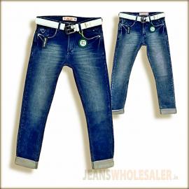 Lukkari Mens Blue Jeans With Belt WJ1303