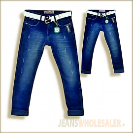 Lukkari Mens Blue Jeans With Belt