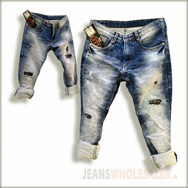 Men Damage Patch Jeans GTU0093