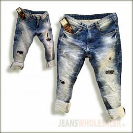 Men Damage Patch Jeans GTU0093