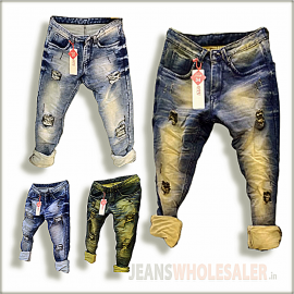 Men Damage Denim Jeans GTU0094