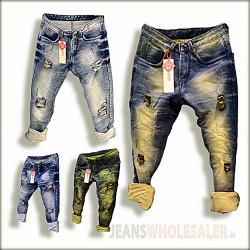 Men Damage Denim Jeans GTU0094