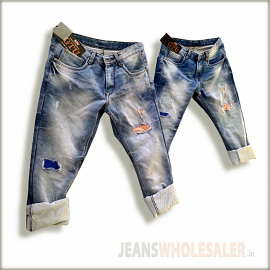 Men Damage Patch Jeans