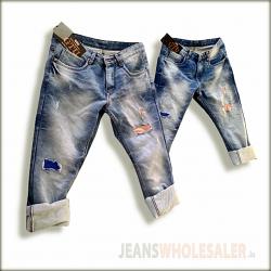 Men Damage Patch Jeans
