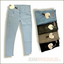 Wholesale Lobic Women Dusty Colour Jeans LB0041