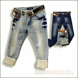 GTU Men Denim Jeans With Belt Wholesale Piece GTU0113