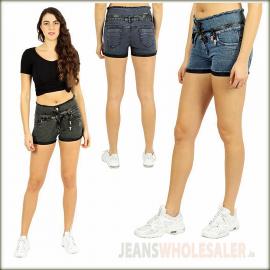 Women High Waist Denim Shorts