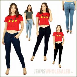 Women Slim Fit High-Rise Clean Look Jeans BD2025