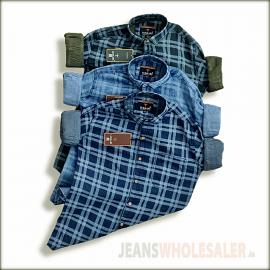 Men Blue Slim Fit Faded Casual Denim Shirt