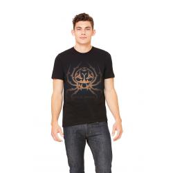 Royal Spider Black T-Shirts Fot Men's