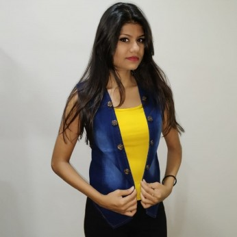Denim Vistara denim jacket sleeveless For Women's