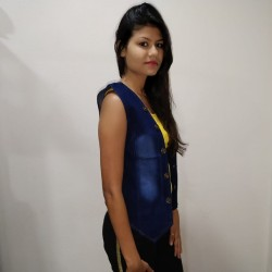Denim Vistara Sleeveless denim jacket For Women's