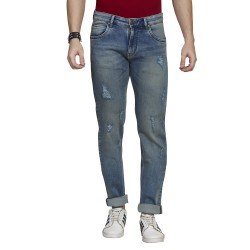 Denim Vistara Blue Men's Damage Jeans