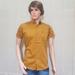 Men's Party Wear Golden yellow Shirts